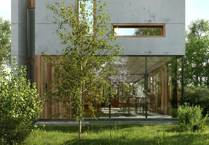 Wittaya Wangpuk House Gepo Architecture (V-Ray 3)